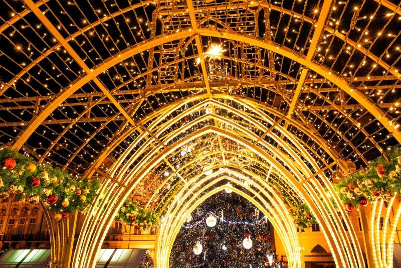 Porta do Natal na praça da cidade velha em Praga fotografia de stock royalty free