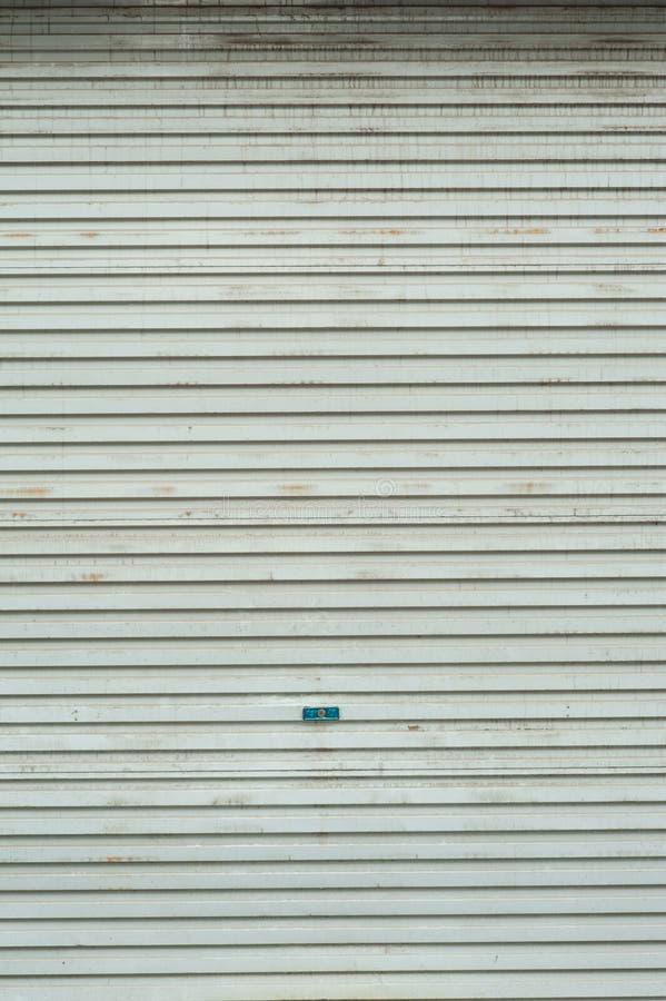 Porta do obturador do rolo foto de stock