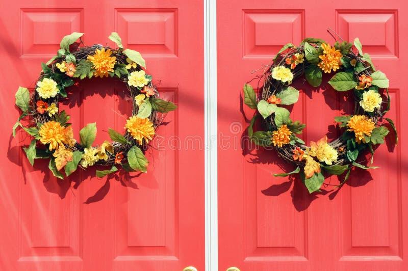 Porta do outono fotografia de stock