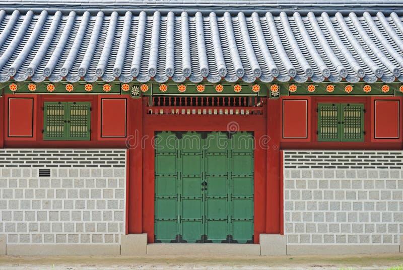 Porta do palácio fotografia de stock
