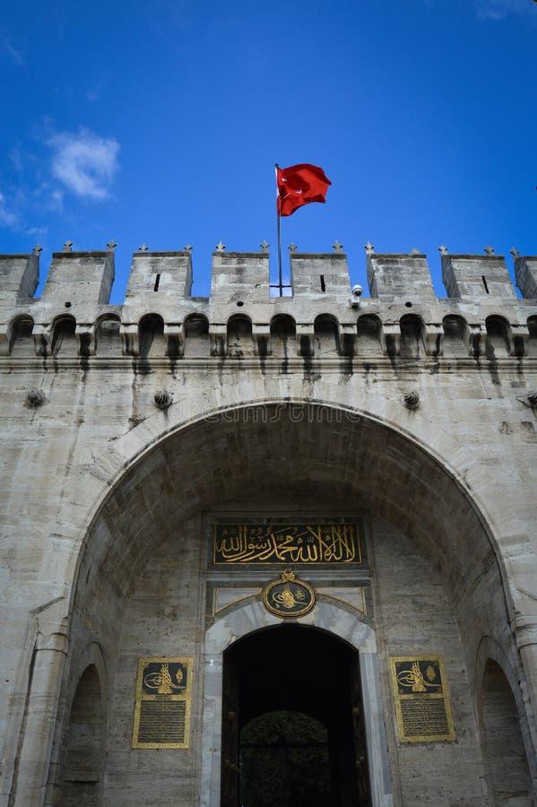 Porta do palácio de Topkapi fotografia de stock
