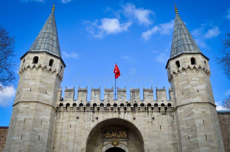 Porta do palácio de Topkapi imagem de stock royalty free