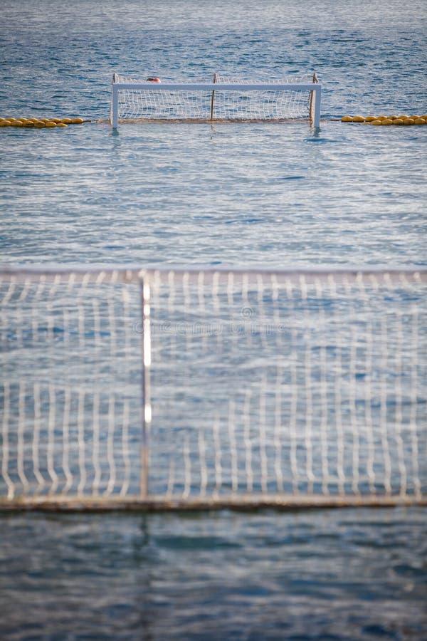 Porta do polo aquático imagens de stock