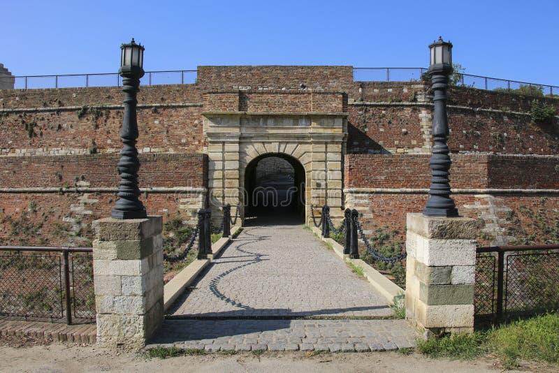 A Porta do rei da fortaleza Kalemegdan de Belgrado, Belgrado serbia fotografia de stock