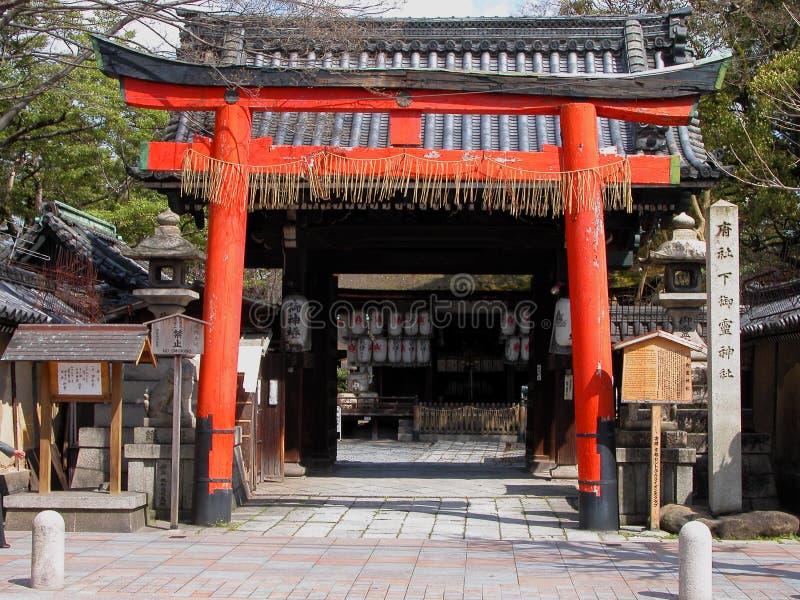 Porta do templo imagem de stock