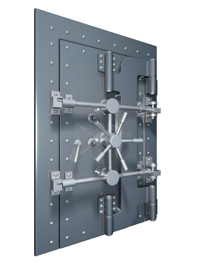Porta do Vault ilustração stock