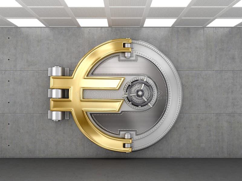 Porta do Vault de banco ilustração royalty free