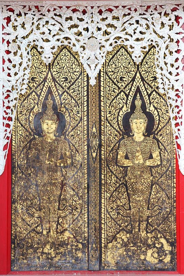 Porta dourada antiga imagens de stock
