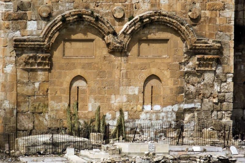 A porta dourada em Jerusalem foto de stock