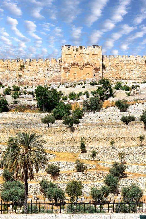 Porta dourada, Jerusalem fotografia de stock