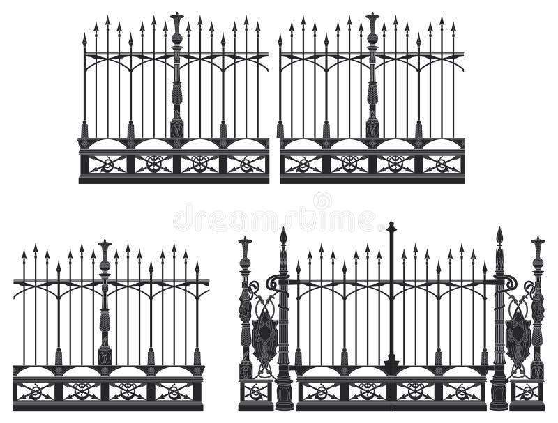 Porta e cerca ilustração royalty free
