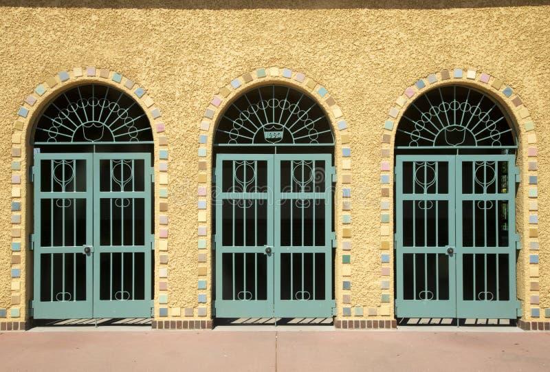 Porta, porta e porta a Denver immagini stock libere da diritti