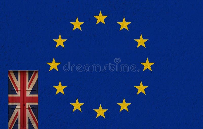 Porta e referendum italiani illustrazione vettoriale