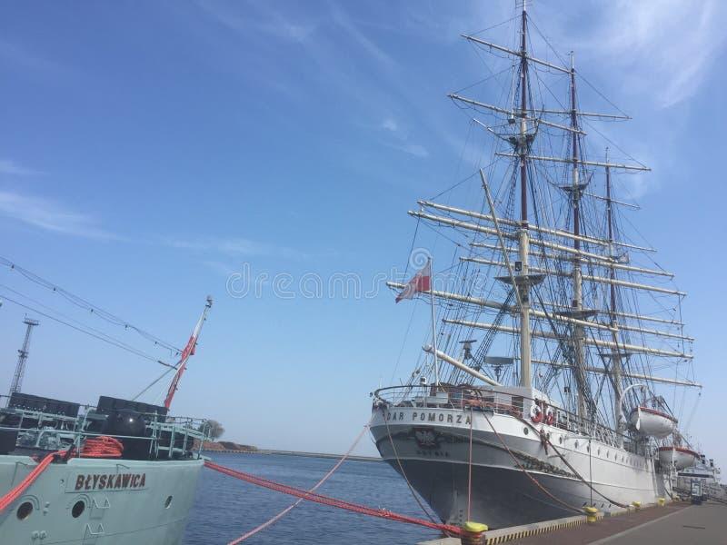 Porta em Gdynia, Poland imagem de stock royalty free