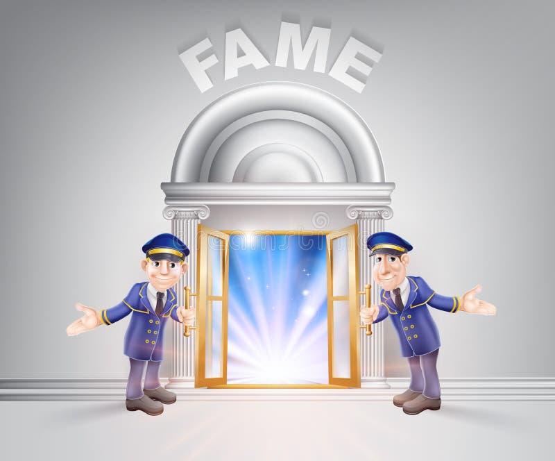 Porta a fama ed ai Doormen illustrazione di stock