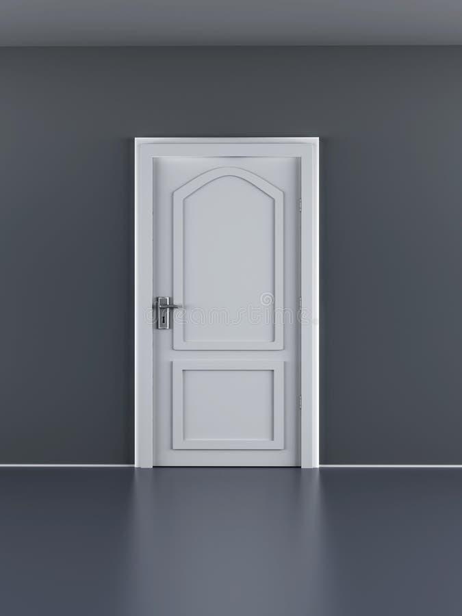 Porta fechada ilustração stock