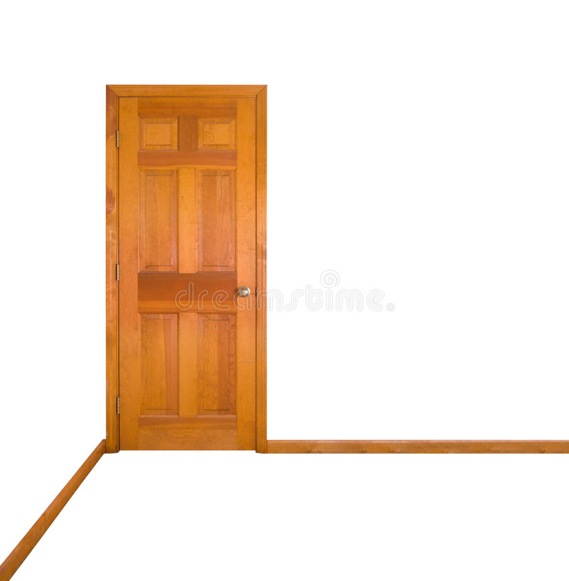 Porta fechada (trajeto de grampeamento) fotos de stock