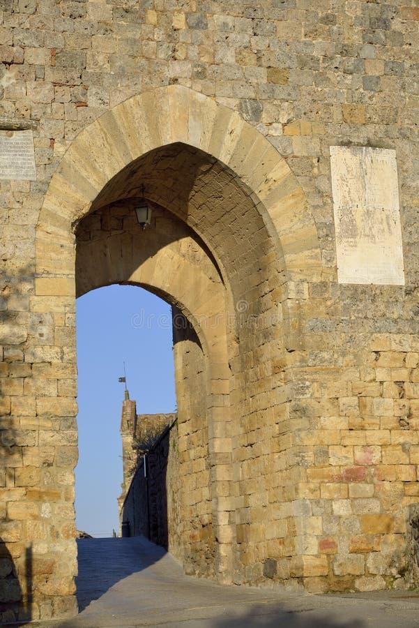 Porta Franca (Monteriggioni) royalty-vrije stock fotografie