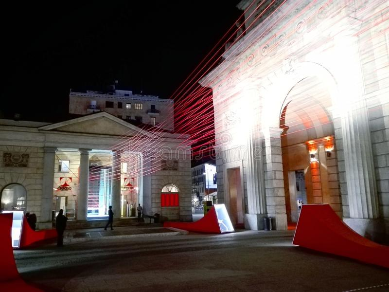 Porta Garibaldi στοκ φωτογραφία