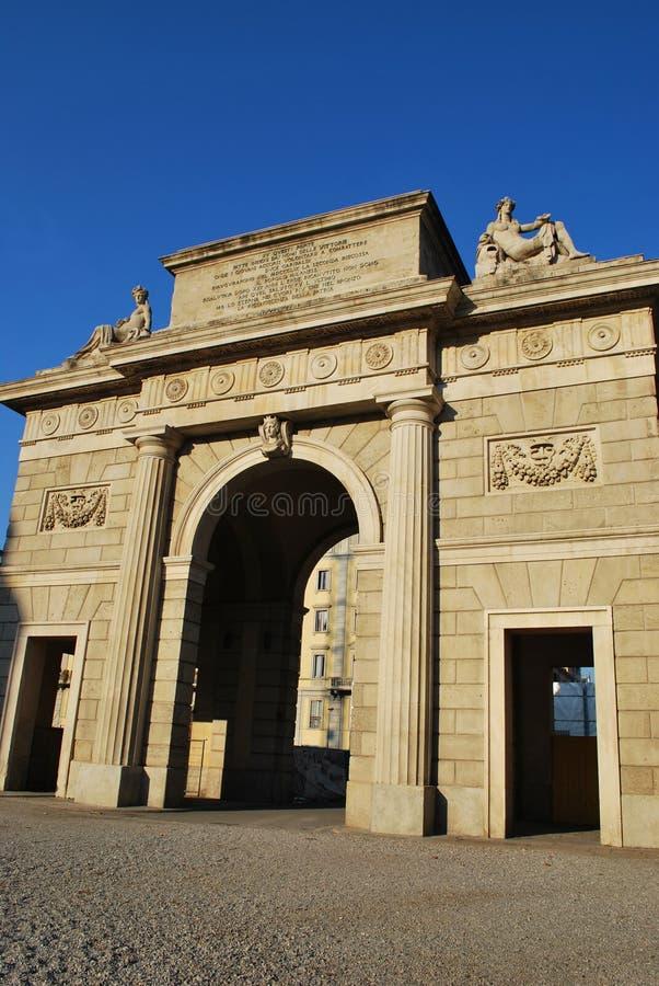 Porta Garibaldi, Milan royalty free stock image