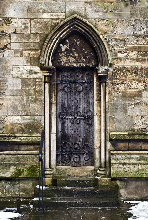 Porta gotica fotografia stock