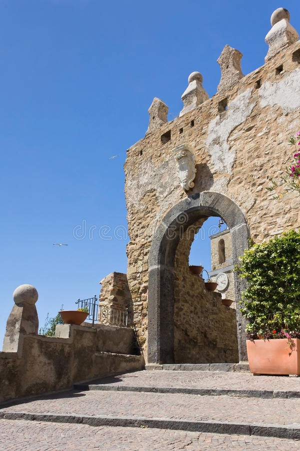 Porta Greco-Bizantina di Agropoli um Salerno foto de stock royalty free