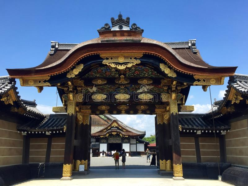 Porta imperial do palácio de Kyoto fotografia de stock royalty free