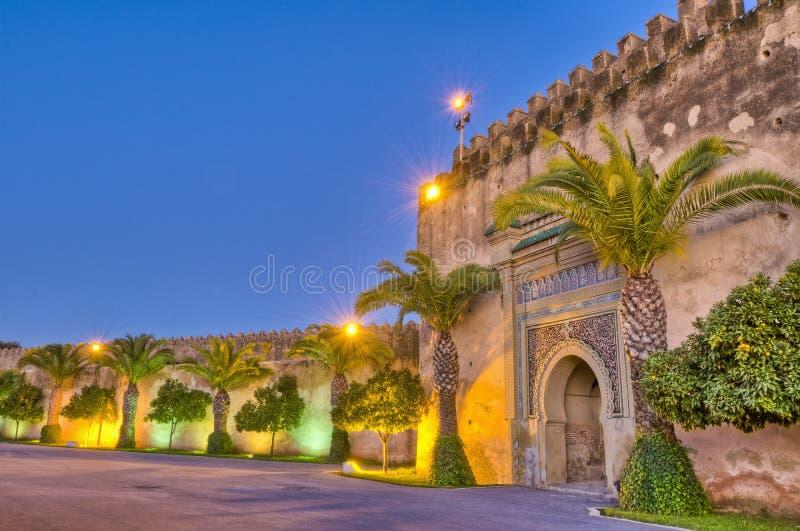 Porta imperial em Meknes, Marrocos da cidade fotografia de stock royalty free