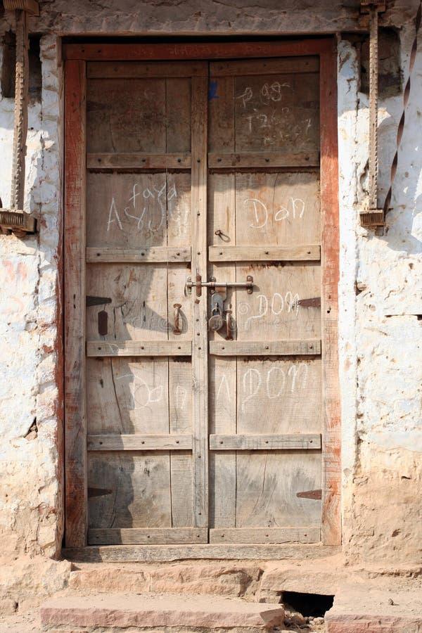Porta indiana do vintage imagens de stock
