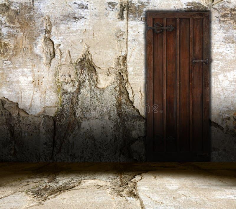 Porta interior velha ilustração do vetor