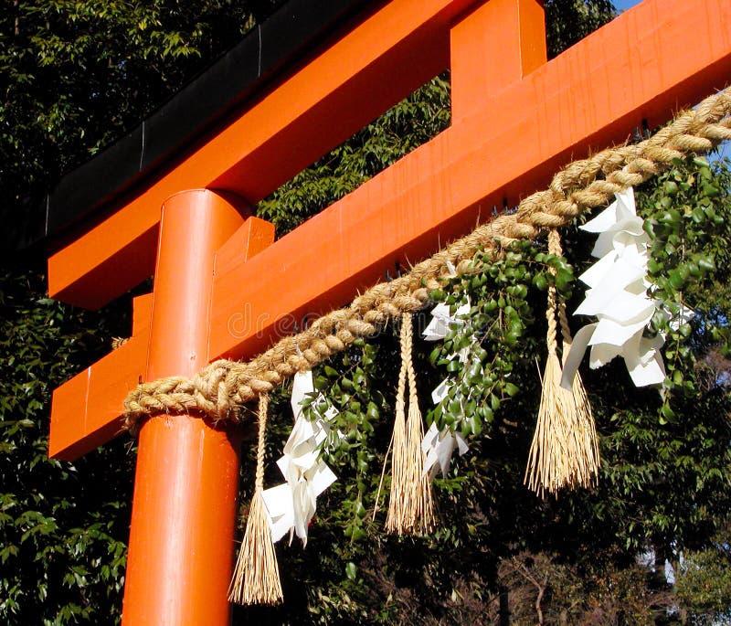Porta japonesa do templo fotografia de stock