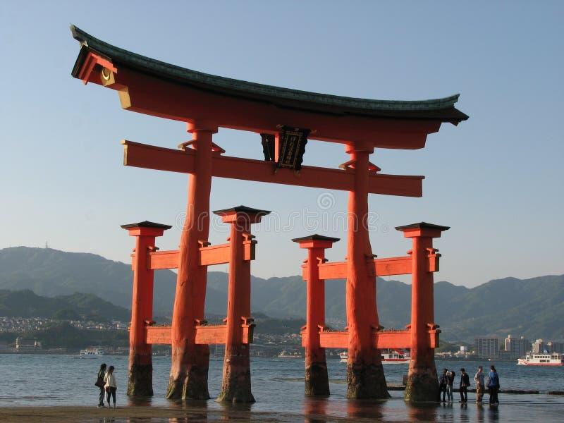 Porta Japonesa Em Miyajima Fotografia de Stock