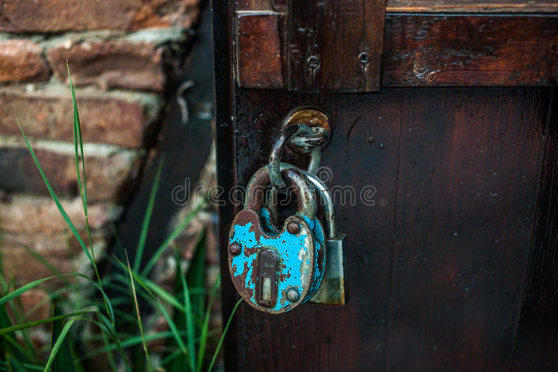Porta Locked fotografia de stock royalty free