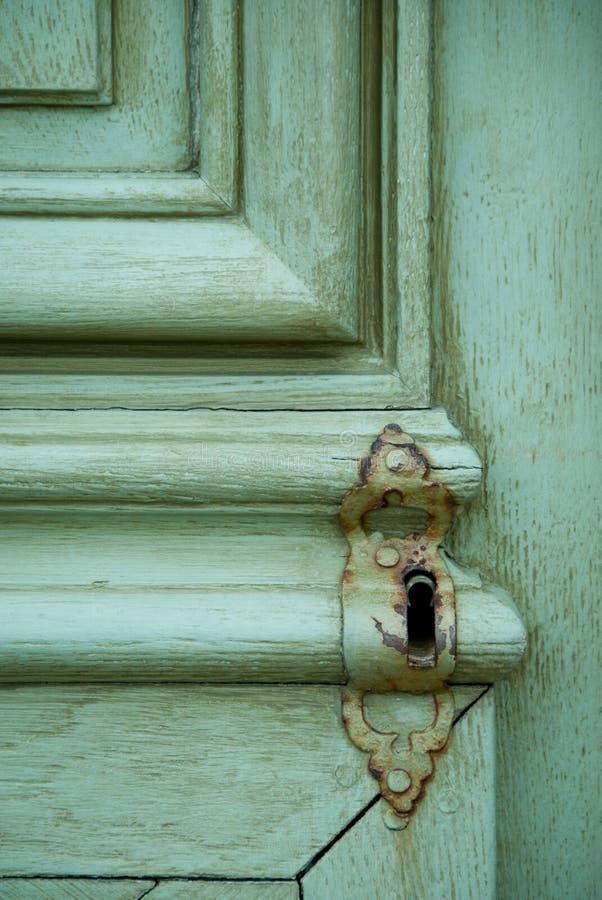 Porta Locked velha fotografia de stock