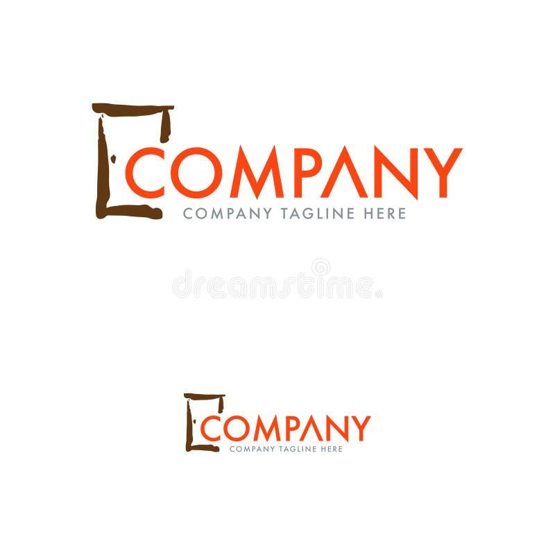 Porta Logo Design Template do vintage ilustração royalty free