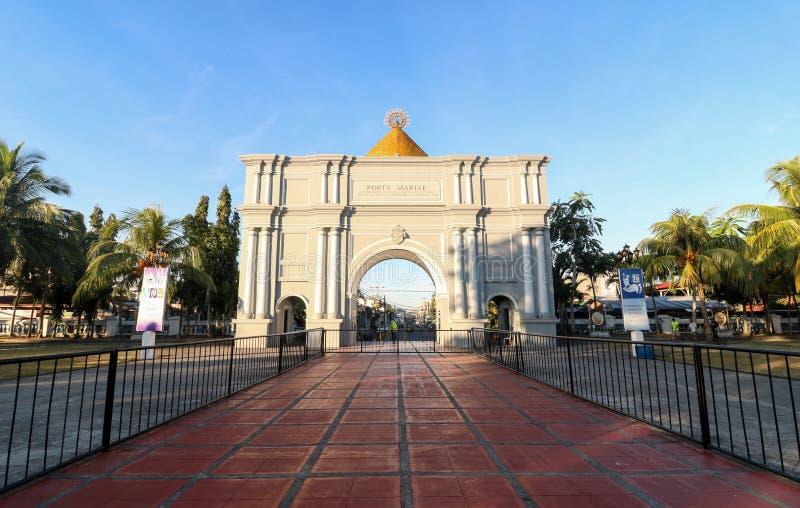 The Porta Mariae in Naga City. NAGA CITY, CAMARINES SUR / PHILIPPINES - MARCH 4, 2019: The Porta Mariae in Naga City royalty free stock image