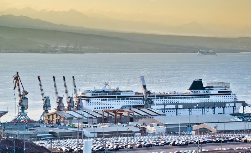 Porta marinha em Eilat, Israel foto de stock royalty free