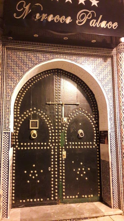 porta marocchina fredda immagine stock