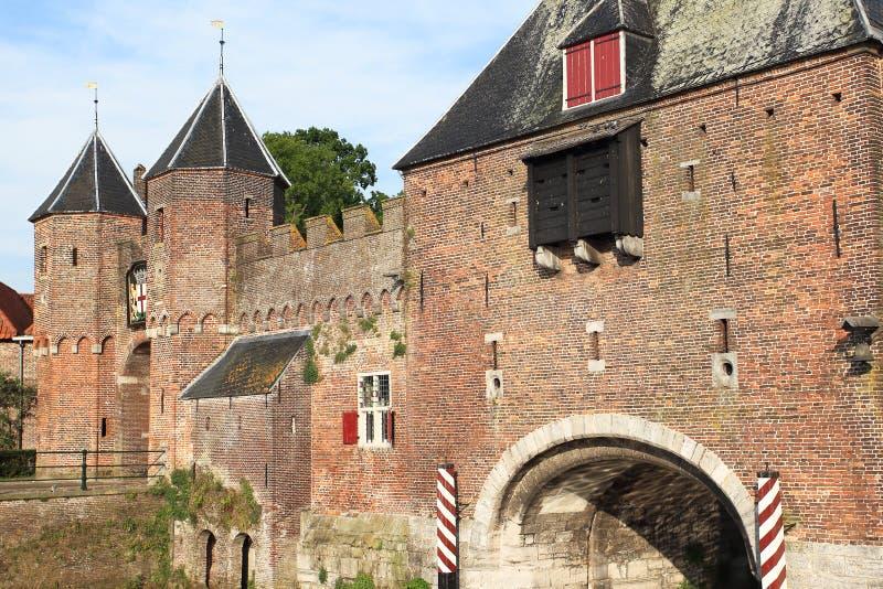 Porta medieval em Amersfoort imagem de stock royalty free