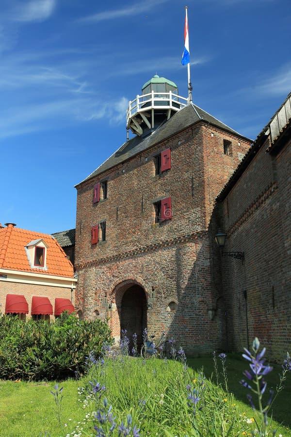 Porta medieval em Hardewijk imagens de stock