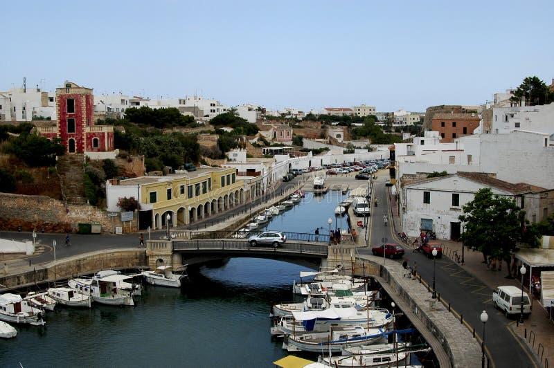 Porta Menorca Spagna di Ciutadella immagini stock