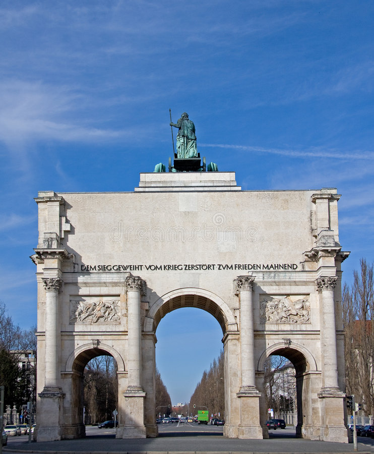 Porta Munich da vitória fotografia de stock