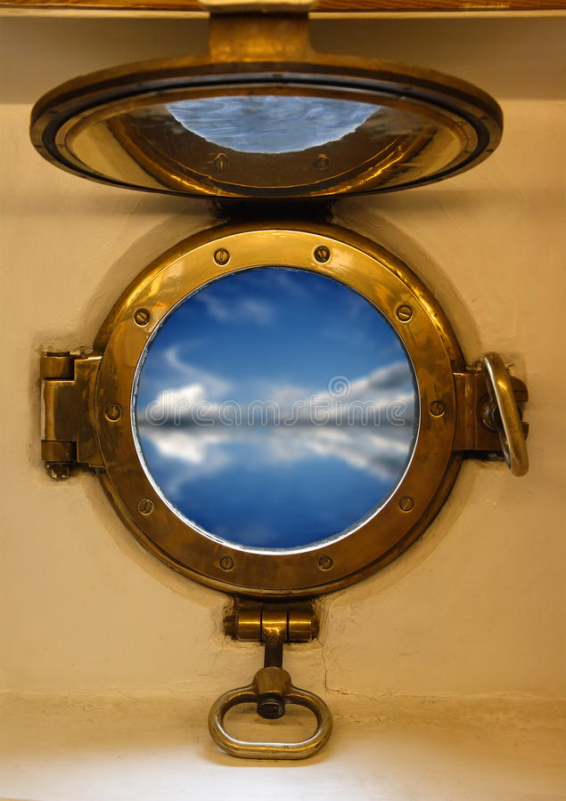 Porta náutica imagen de archivo libre de regalías