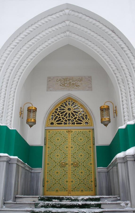 Porta na mesquita imagens de stock
