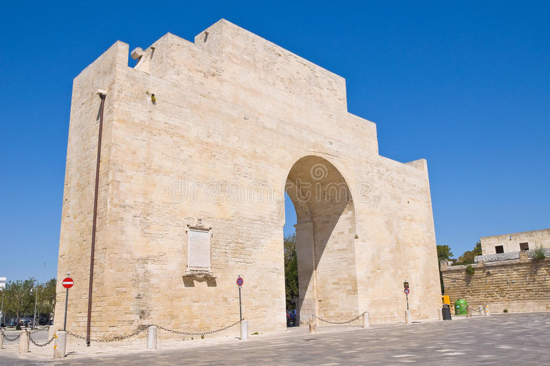 Porta Napoli. Lecce. La Puglia. L'Italie. photo libre de droits