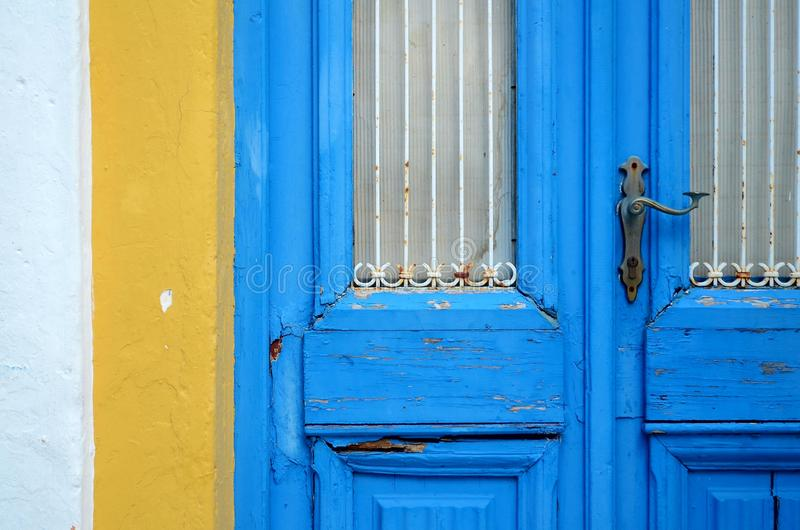 Porta nell'isola del ` di Naxos fotografie stock libere da diritti