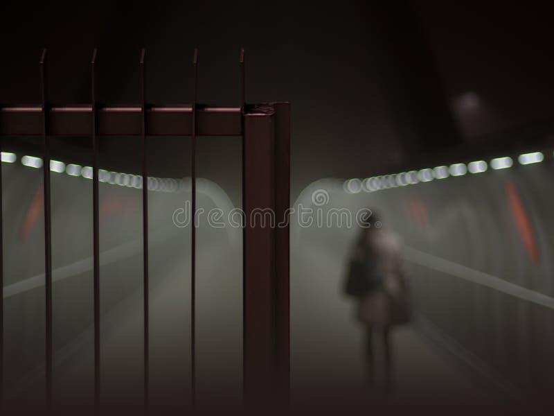 Porta nevoenta fotografia de stock royalty free