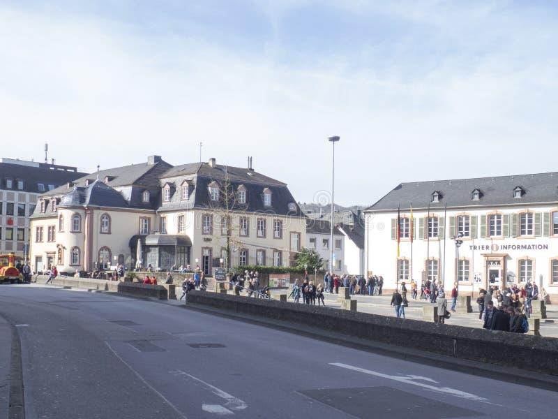 Porta Nigra square in the centre of Trier stock photos