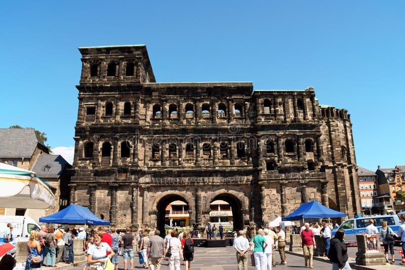 Porta Nigra in Trier royalty free stock photos