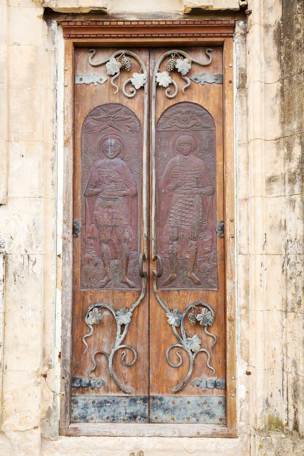 Porta no monastério de Motsameta imagem de stock
